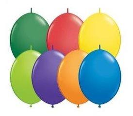 Kettenballons uni oder bunt gemischt, 30cm