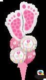 Ballonbouquet Baby Girl Füsse_