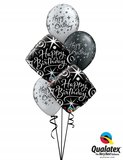 Ballonbouquet Happy Birthday Black Elegant_