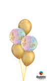 Ballonbouquet Happy Birthday Schatten & Sterne_