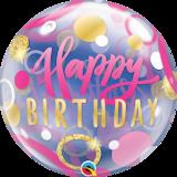 Birthday Pink & Gold Dots_