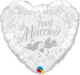 Just Married Pearl White & Silver_