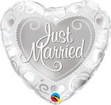 Just Married Hearts Silver_