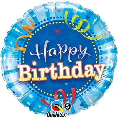 Happy Birthday Shining Star Bright Blue