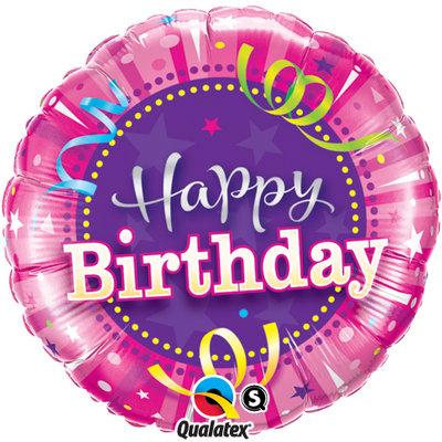 Happy Birthday Shining Star Hot Pink