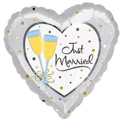 Just Married Champagne Glass