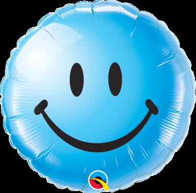 Smiley blau