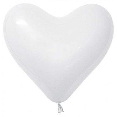 Herzballon, 40cm, weiss