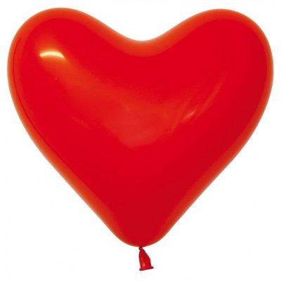 Herzballon, 40cm, rot