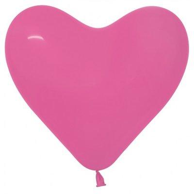 Herzballon, 40cm, pink
