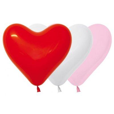 Herzballon, 40cm, bunte Mischung
