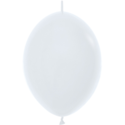 Kettenballon, 30cm, weiss