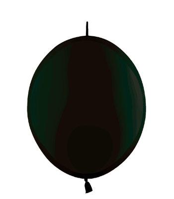 Kettenballon, 30cm, schwarz