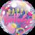 Birthday Pink & Gold Dots