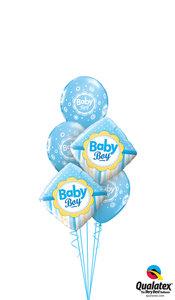 Ballonbouquet Baby Boy Punkte & Streifen