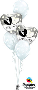 Ballonbouquet Mr & Mrs