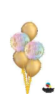 Ballonbouquet Happy Birthday Schatten & Sterne