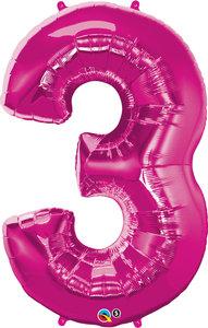 "Folienballon Zahl ""3"""